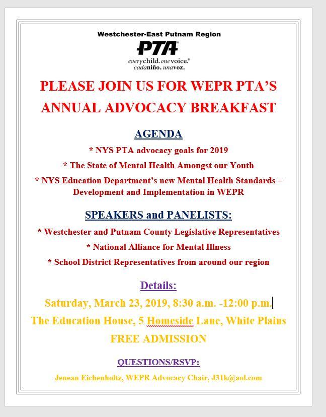 2019 Advocacy Breakfast